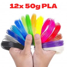 12x 50g PLA 3D850 Mix Color Sample 1.75mm